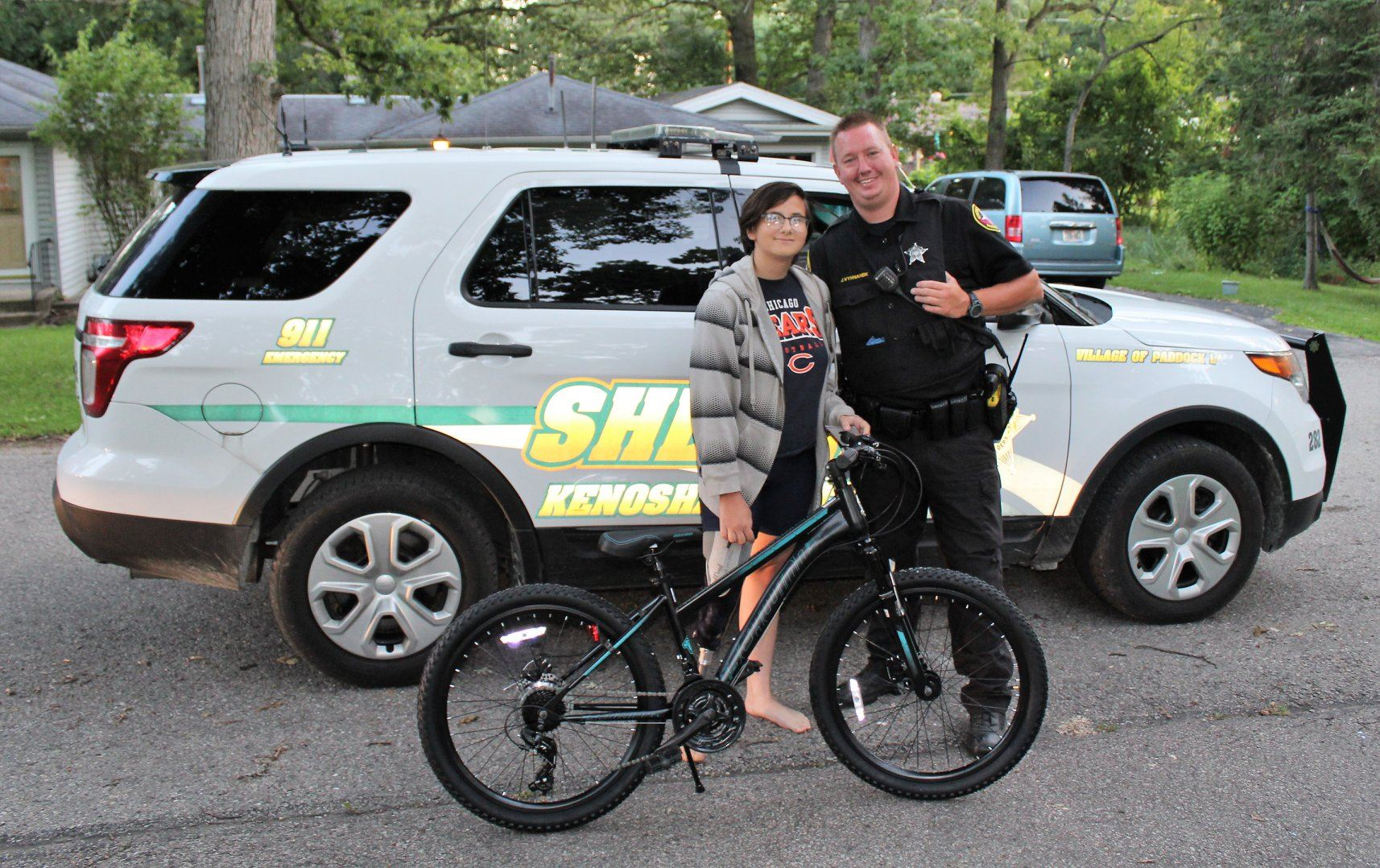 Deputy Vyhnanek and Bella with new bike