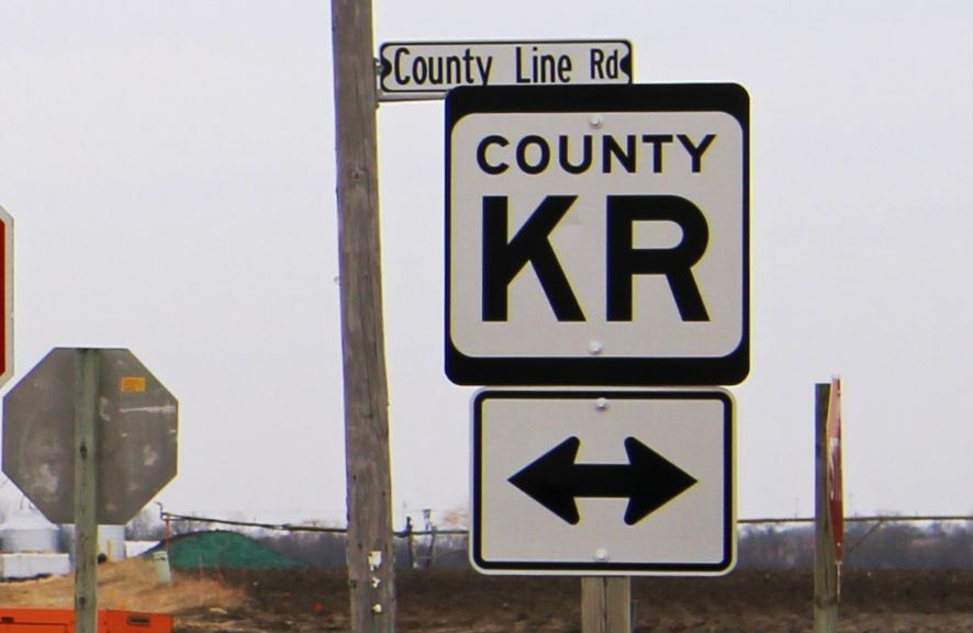 Highway KR sign